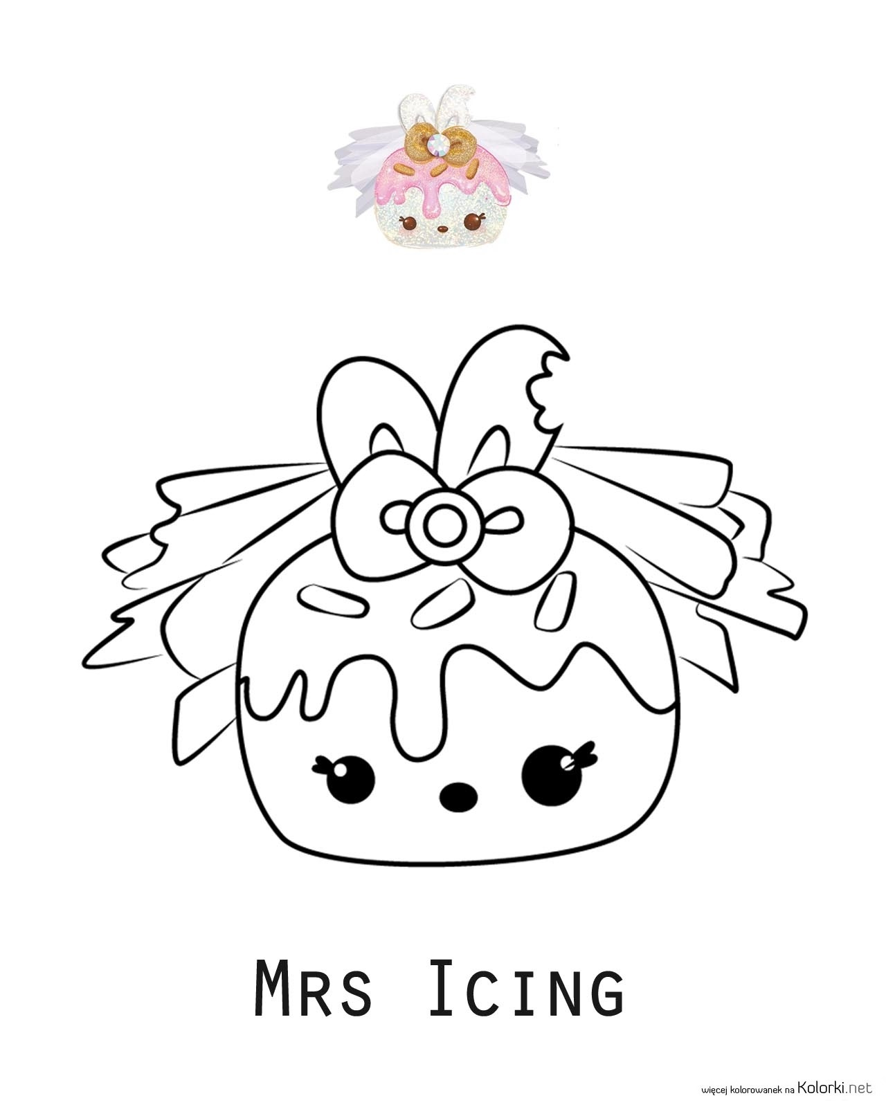 Coloring Page Num Noms Mrs Icing Cake