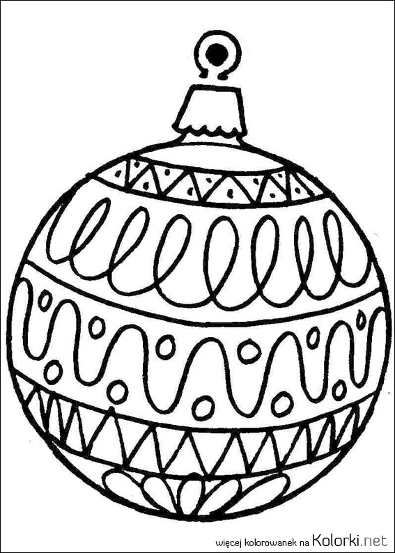 coloring pages christmas baubles hanging - photo#19
